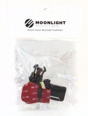 Moonlight Helmet Mount kiinnitys tarralla/nippareilla